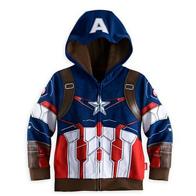 Boys Hoodies Avengers Marvel Superhero Iron Man Thor Hulk Captain America Spiderman Hoodies 3