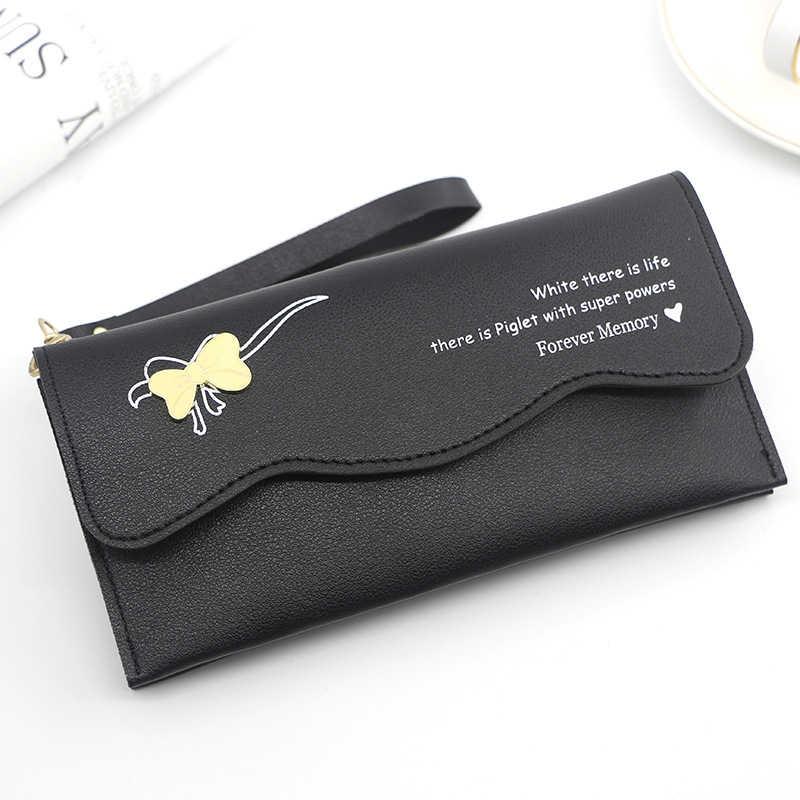 Kadın cüzdan kırmızı/yeşil/pembe/mavi/gri/siyah uzun kadın çanta PU deri cep telefonu çantası çile kadın kart cüzdan