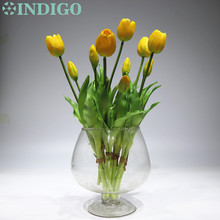 Artificial Flower Tulip Indigo-Real Silicone Bouquet Holland High-Quality Home Wedding