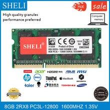 SHELI 8GB 2RX8 DDR3L-12800 1600Mhz 1.35V SODIMM RA