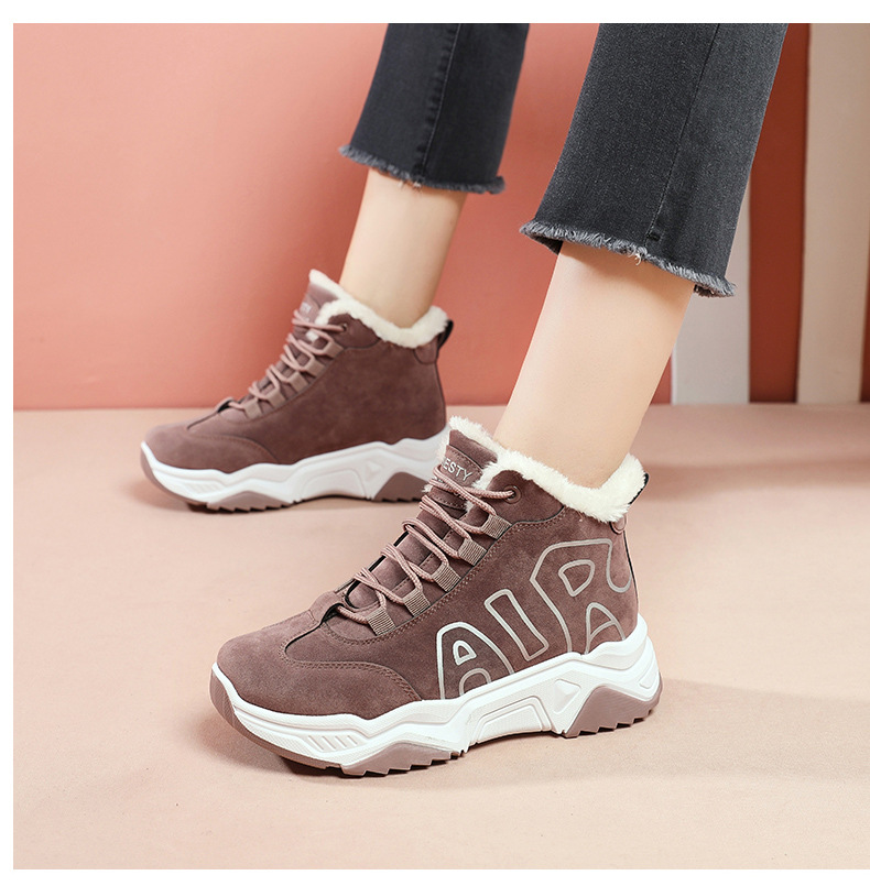 2019 Genuine Leather Women sneakers Platform Daddy Sneakers Horsehair Shoes Casual Boots Breathable Mesh Woman Chunky Shoes 39