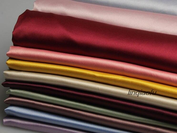 Матовая атласная стрейчевая ткань для одежды, атласная имитация Шелкового атласного материала для платья-рубашки