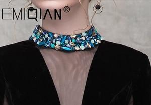 Image 4 - Brilliant Black Beaded Evening Dress,3/4 Sleeves Illusion V Neck Figured Satin Evening Gowns,Open Back Velvet Formal Party Dress