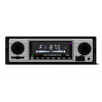 Vintage Car Bluetooth FM Radio MP3 Player Stereo USB AUX Classic Car Stereo Audio OLED Color Screen Car Music Media Player image