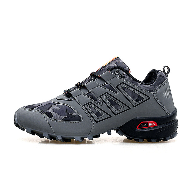Men Luminous Shoes Series Explosion-proof Sneakers Shoes Chaos Large Size Outdoor Shoes Non-slip Off-road Sports Shoes YOUQIJIA