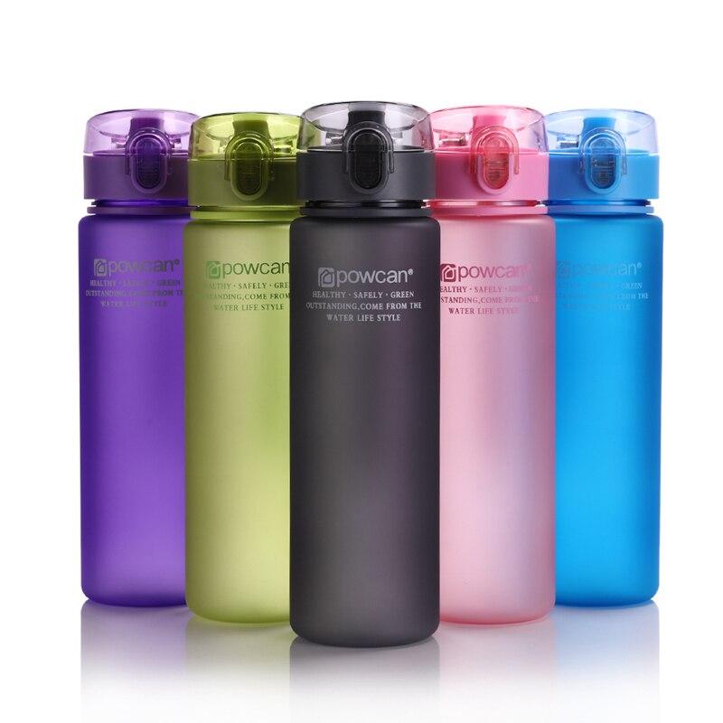 Water-Bottle Gourde Direct-Drinking-Shaker-Bottles Plastic Hiking Sport 400ml 560ml En