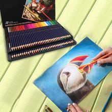 цена 72 Color Water-soluble Color Pencil Color Pencil Water-soluble Color Pencil Set Gift Box Hand-painted School Supplies онлайн в 2017 году