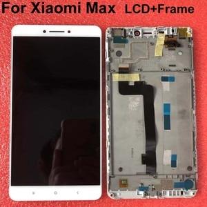 """Image 1 - LCD dorigine meilleure qualité testé bien pour 6.44 """"Xiao mi mi Max mi max écran LCD affichage + écran tactile numériseur avec cadre blanc"""