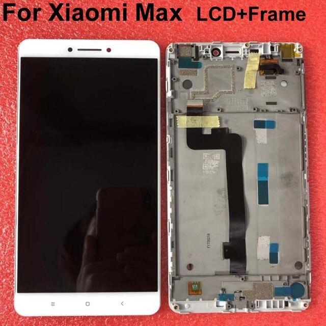 """LCD dorigine meilleure qualité testé bien pour 6.44 """"Xiao mi mi Max mi max écran LCD affichage + écran tactile numériseur avec cadre blanc"""