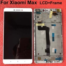 """Original LCD Best Quality Tested Well For 6.44"""" Xiaomi Mi Max mimax LCD screen display+touch panel digitizer with frame white"""