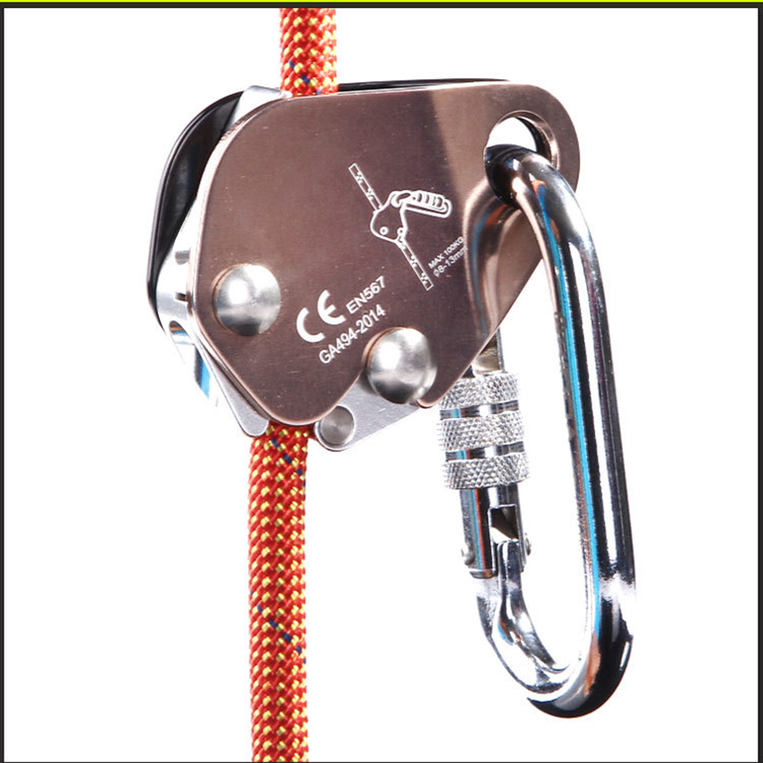 Climbing Fall Protection Rope Grab Protecta Fits 8mm//12mm Steel Wire Rope