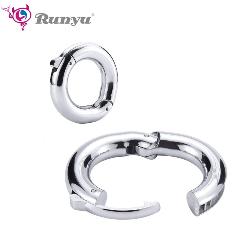 5 Size Cock Ring Heavy Duty Adjustable Male Ball Scrotum Stretcher Metal Penis Cock Lock Ring Delay Ejaculation BDSM Penis Ring