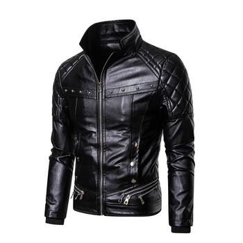 2020 New Men's Leather Jackets Autumn Winter Casual Motorcycle PU Jacket Biker Leather Coats Fashion Zipper Coat Male Outwear цена 2017