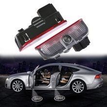 2 pçs led porta do carro luz cortesia projetor para vw volkswagen passat b6 b7 cc golf 5 6 7 mk5 mk6 mk7 jetta touran tiguan lâmpada