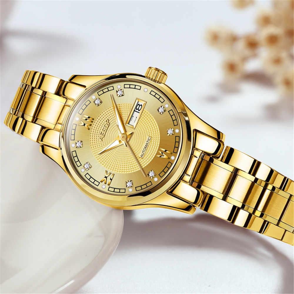 ايسوب النساء ساعات آلية سوار فاخر المعصم ساعة اليد السيدات أنيقة اليابان ساعة أوتوماتيكية ساعة Relogio Feminino