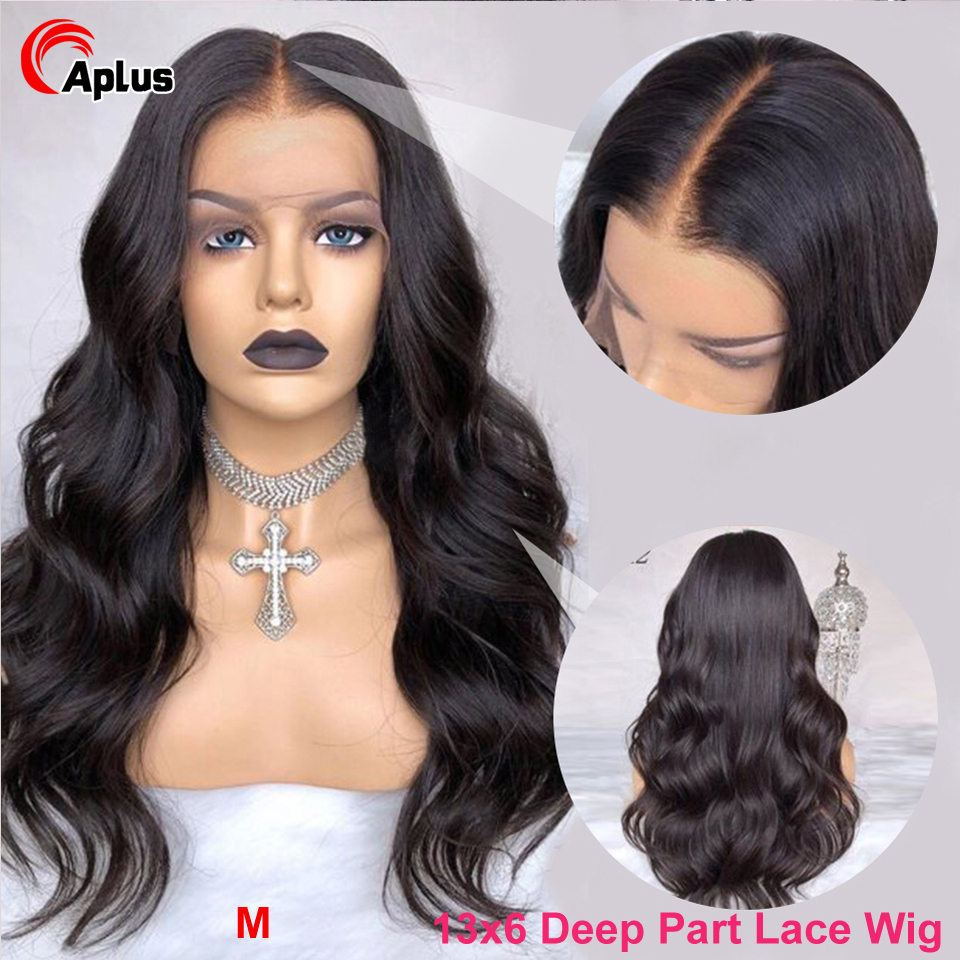 13x6 Lace Front Human Hair Wigs For Women Pre Plucked Indian Body Wave Lace Frontal Wig Bleached Knot 150% Remy Hair Lace Wig
