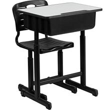 Adjustable Students Children Desk And Chairs Set Black Plexiglass Transparent Vitrine Plexiglas Pulpit Church
