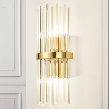 Modern American Luxury Crystal Wall Lamp Simple Living Room Bedroom Bedside Lamp Decor Home Wall Sconce Light Fixture Luminaria(China)