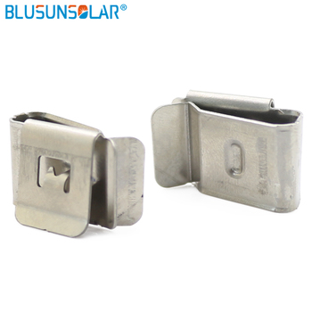 500pcs/lot  2 x 4mm SUS 304 Stainless Steel material 2 way PV cable clips , solar cable clamp wire holder