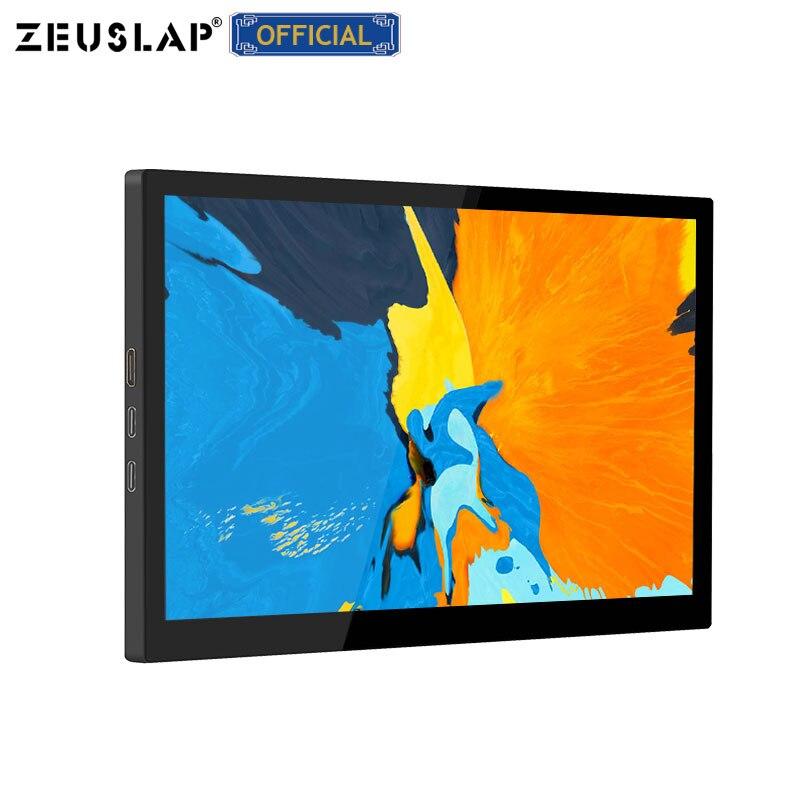 Zeuslap 8,9 zoll 10 Punkt Touch Monitor mit Usb C Hdmi-kompatibel Dual Eingangs Tragbare Gaming Monitor für laptop telefon kamera