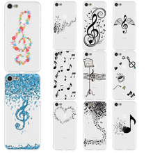 Musical Notes Violin Classic Music Phone Case For iPhone xr 7 8 6 6S Plus xr XS MAX 5 5S Soft TPU Phone Cover For iPhone 8 7Plus