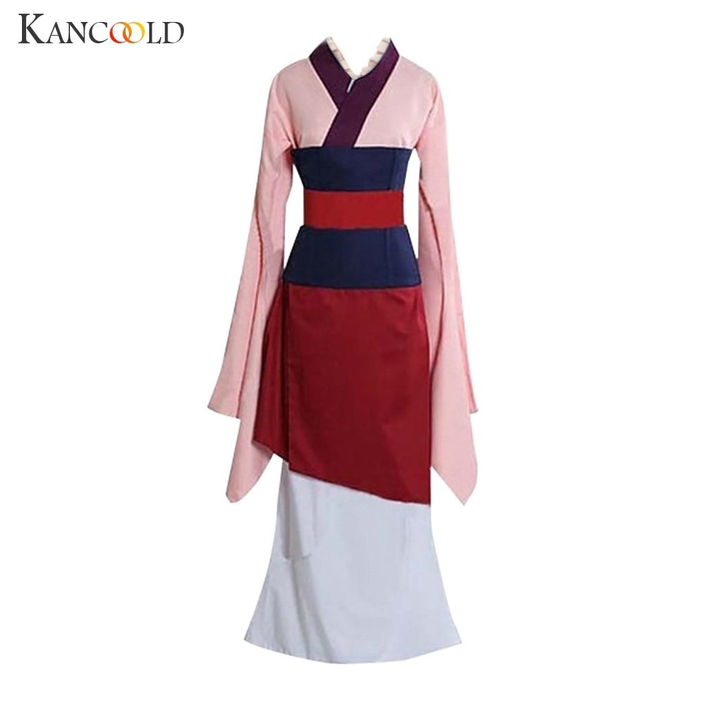 KANCOOLD Hua Mulan Cosplay Clothing Women Anime Performance Clothing Princess Movie Dress Red Cosplay Costume Kimono Dress