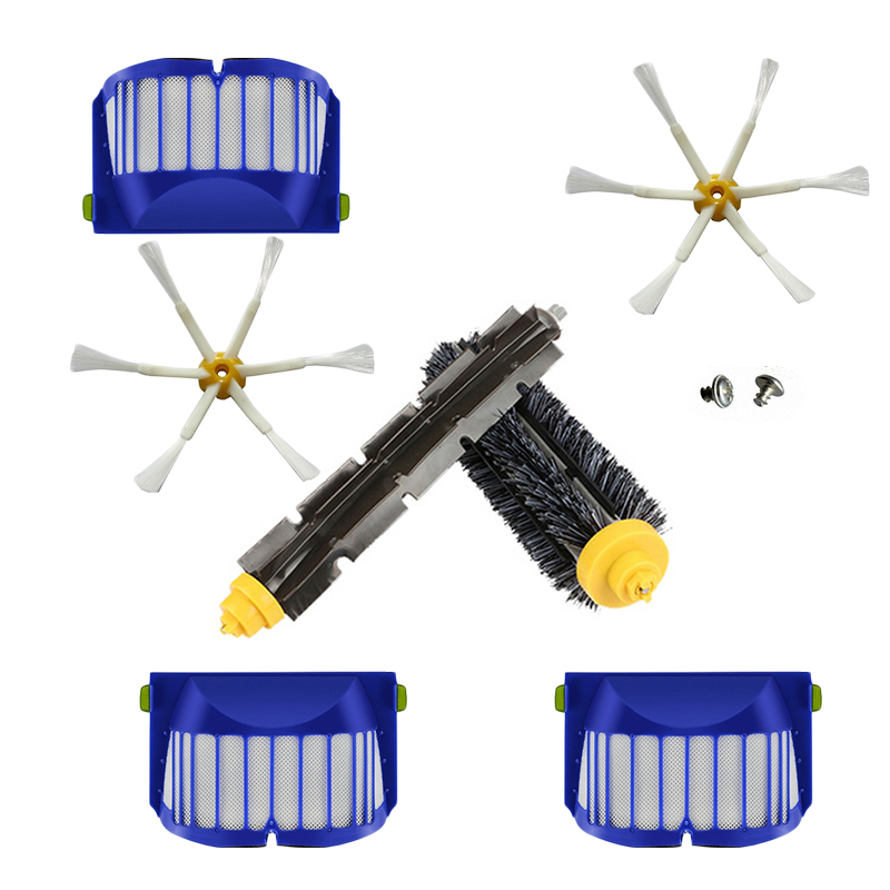 Filter Mesh Main&Side Brush for iRobot Roomba 600 Series 605 610 615 616 620 image