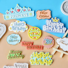 3D Silicone Happy Birthday Letters Numers Mold For Ice Jelly Chocolate Mold Birthday Cake Decorating Tool Mould