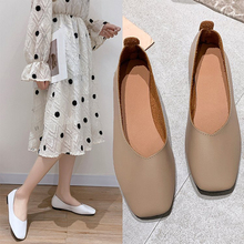 9 pairs Loaferflate Ballet Square Toe light-mouthed PU Leather shoes