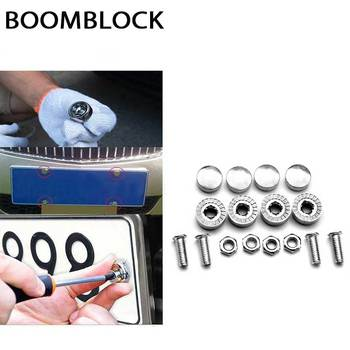BOOMBLOCK 16pcs/set Car License Plate Screws Cover For BMW e90 e60 e39 e46 f10 F30 VW Golf 7 passat b6 Peugeot 206 2020 audi a3 image