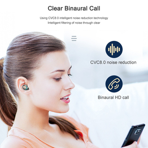 Image 2 - F9 5 wireless earphone Bluetooth 5.0 Headphones IPX7 Waterproof earbuds Touch Key Earpieces Works on all Android iOS smartphones
