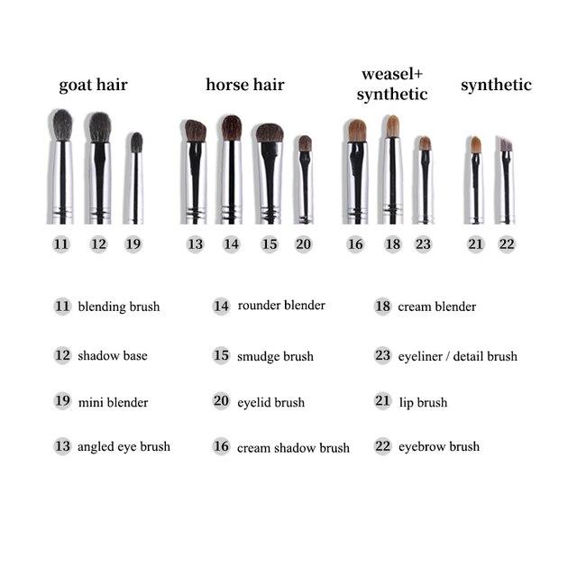 OVW 12pcs Panceau Maquillage Eye Natural Hair Makeup Brushes Set Kit Cosmetic Make Up Beauty Tool Crease Brush Eyeliner Brow