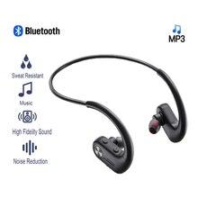 Spor MP3 çalar kulaklık 32 GB dahili bellek su geçirmez Bluetooth kulaklık HiFi Stereo gürültü iptal kablosuz kulaklık