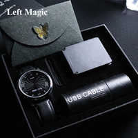 Unendlichkeit Uhr V2 durch Bluether Magie Tricks Mental Magie Close Up Street Magic Requisiten Spaß Party Trick Illusion Gimmick