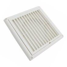 Grille de Ventilation murale, grille de Ventilation, grille de Ventilation, grille de Ventilation intégrée, pour salle de bain, bureau, maison (blanc, 100mm), 1 pièce