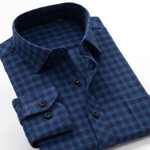 Image 4 - Plus Size Big 6XL 7XL 8XL 9XL 10XL 2020 Oversized Men Clothing Large Size Flannel Plaid Shirt Cotton Long Sleeve Shirt Male