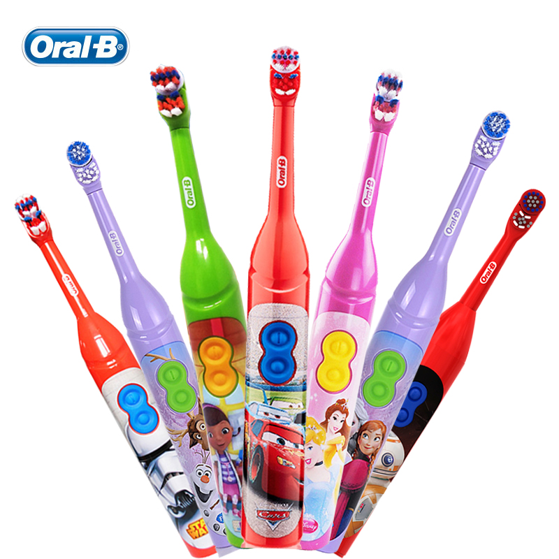 Oral B Children Electric Toothbrush DB3010 for Kids Ages 3+ Soft DuPont Bristles 7200 Times Rotation / Min Dual Clean AA Battery image