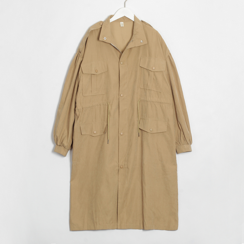 longo outerwear roupas soltas para senhora com cinto casual outerwear