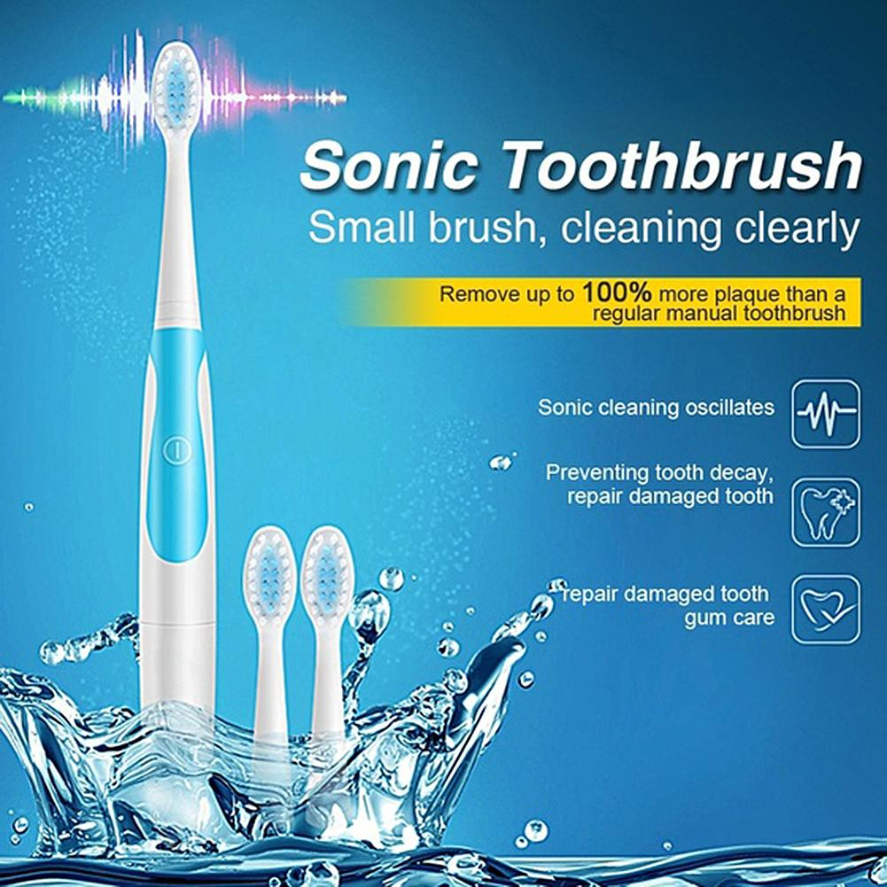 Hot Sale Adult Electric Waterproof Toothbrush Battery Powered Whitening Sonic Vibration Toothbrush Deep Oral Cleaning Care image