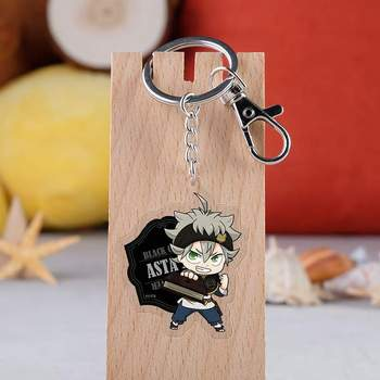 31 Style Black Clover Action Figure Anime Acrylic Noell Sukehiro Swing Keychain Pendant Christmas Gifts 5.5cm image