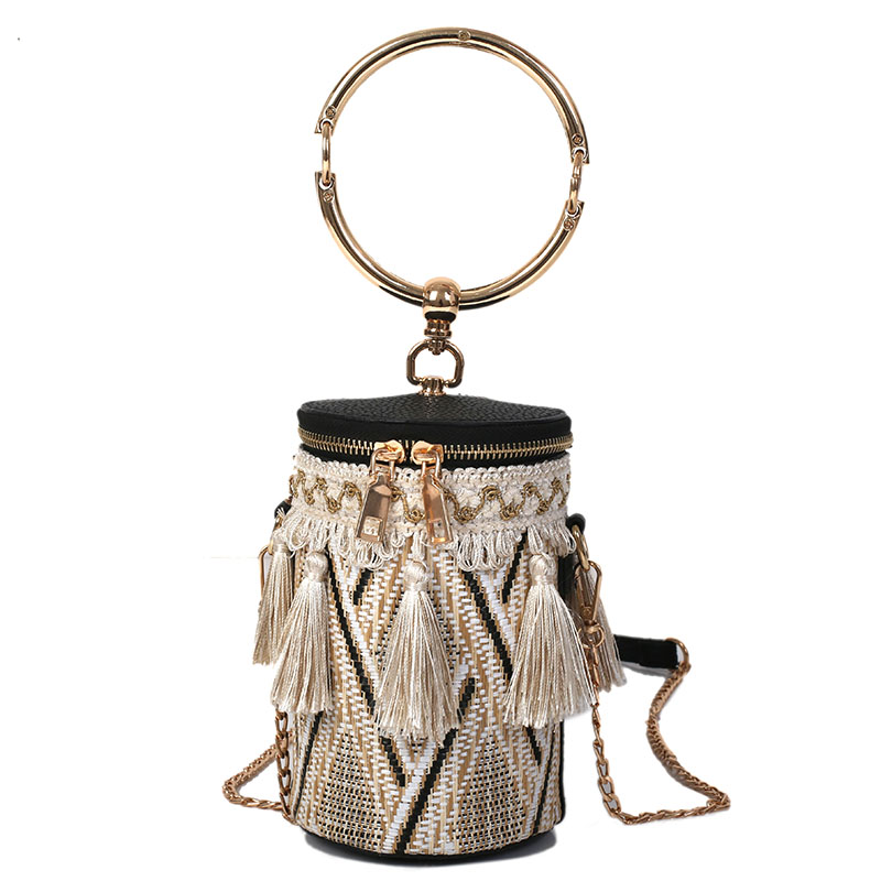 Drink Cup Shape Mini Crossbody Bag Women Single Interior Pocket Zipper Bag Personality Use Straw Weaving Cup Shoulder Bags
