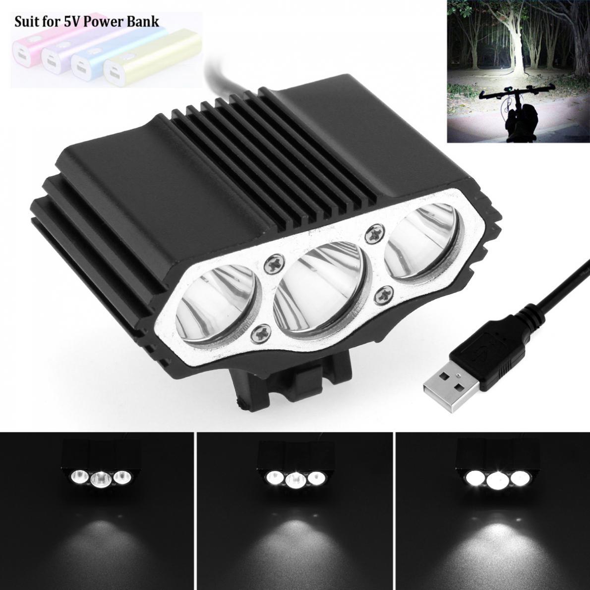 SolarStorm 15000LM 3X XML T6 LED USB Bike Bicycle Headlight Light Torch Battery