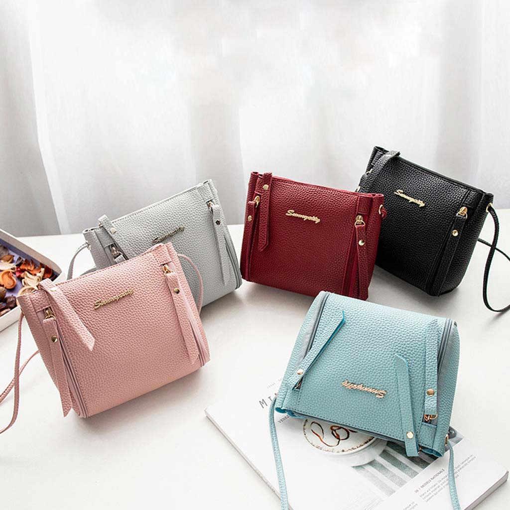 PU Leer Vrouwen Messenger Bags Vrouwelijke Handtassen 2019 Nieuwe Mode Toevallige Dames Schouder Tas Eenvoudige Portemonnee bolso mujer