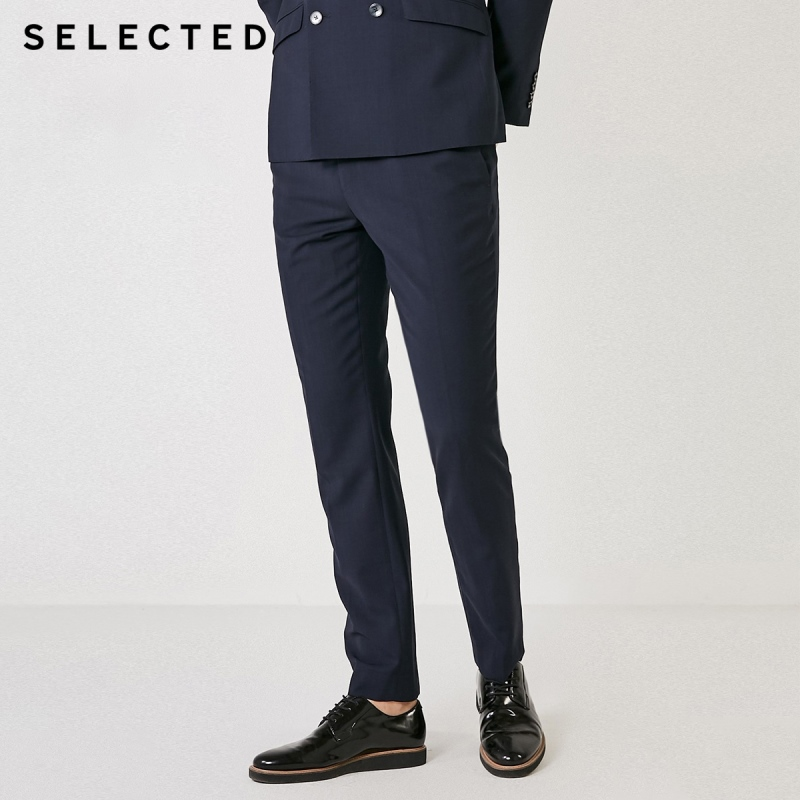SELECTED Men's Slim Fit Woolen Suit Pants T|41926B504