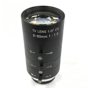 цена на CCTV Video Lens Manual IRIS ZOOM 6-60mm CS Mount Lens For Industrial Microscope Varifocal CCTV Lens Surveillance Camera Lens
