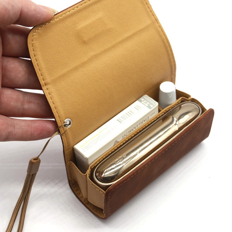 Fashion Flip Double Book Cover Case Pouch Bag Holder Cover Wallet Leather Case For Iqos 3.0