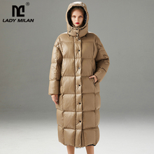 High Quality Women's Winter Runway Down Coats Hooded Collar
