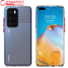 Honeycomb Transparent TPU Case for Huawei P40 Pro Case for Huawei Mate 30 Pro Soft Silicone