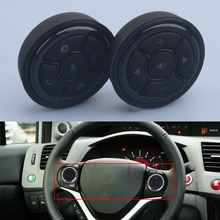 Universal Wireless Steering Wheel Button Key Remote Control Controller Car Black for Stereo DVD GPS With Night Light Accessories