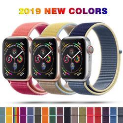Sport Schleife Nylon Band für Apple Uhr Serie 5 40mm 44mm Serie 4, armband Gürtel Band Nylon Woven Handgelenk bands für iWatch 38 42
